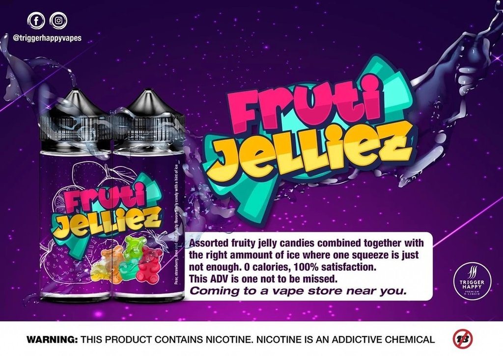 Trigger Happy  - Fruti Jelliez, 120ml