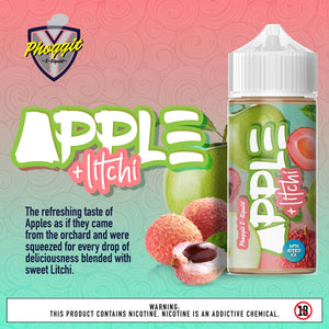 Phoggit Eliquid - Apple Litchi 120ml 2mg