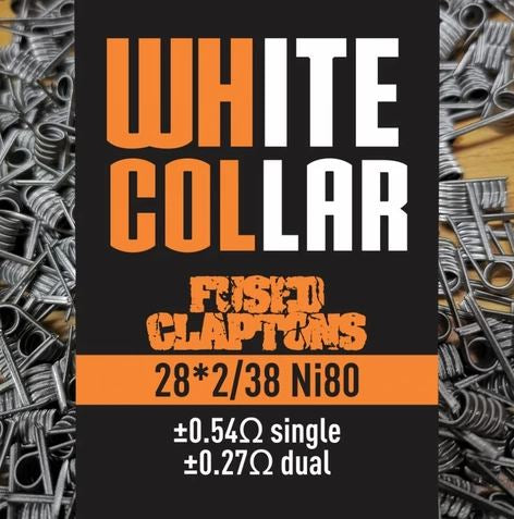 White Collar Coils - Fused Claptons 0.27 (Orange)