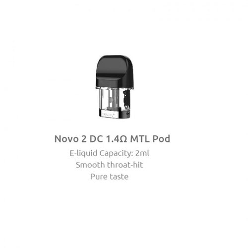 Smok - Novo 2 Replacement Pod 2ml (DC MTL 1.4ohm)
