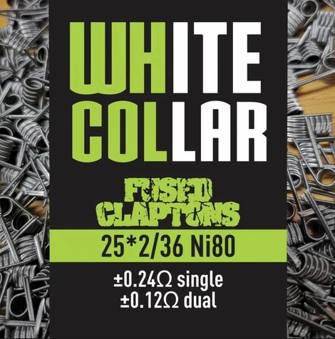 White Collar Coils - Fused Claptons 0.12 (Green)