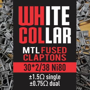 White Collar Coils -  MTL Fused Claptons 0.75 (Red)