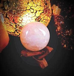 Rose Quartz Sphere (2.0-3.0 Diameter) Home Decor