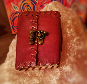 Hand Crafted 3.5 X 5 Leather Journal