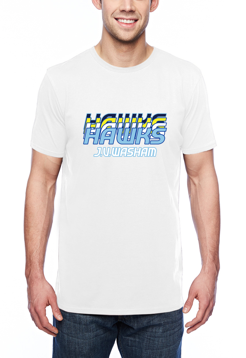 Retro Hawk Adult Lightweight Tee White