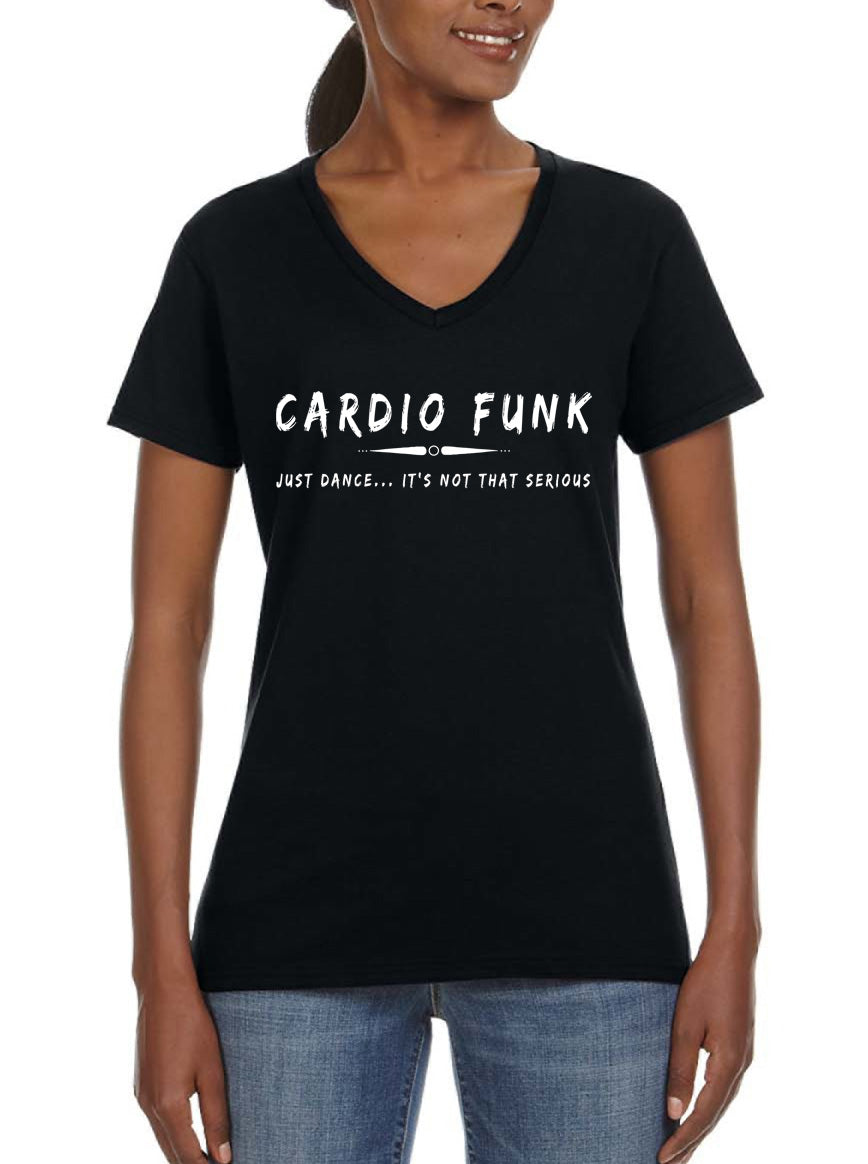 Cardio funk Women's Lightweight V-Neck Tee black