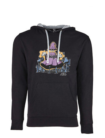 Magic Next Level French Terry Hoodie Black and Grey