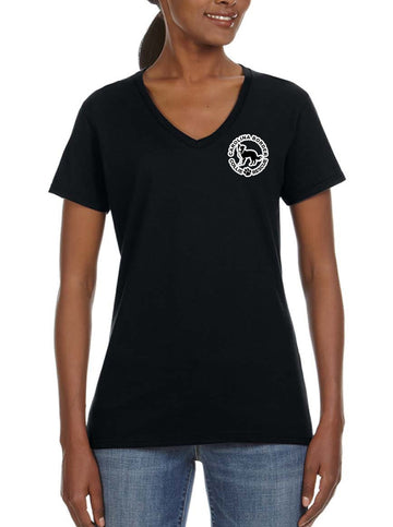 Just Throw It - Women's Lightweight V-Neck Tee Black