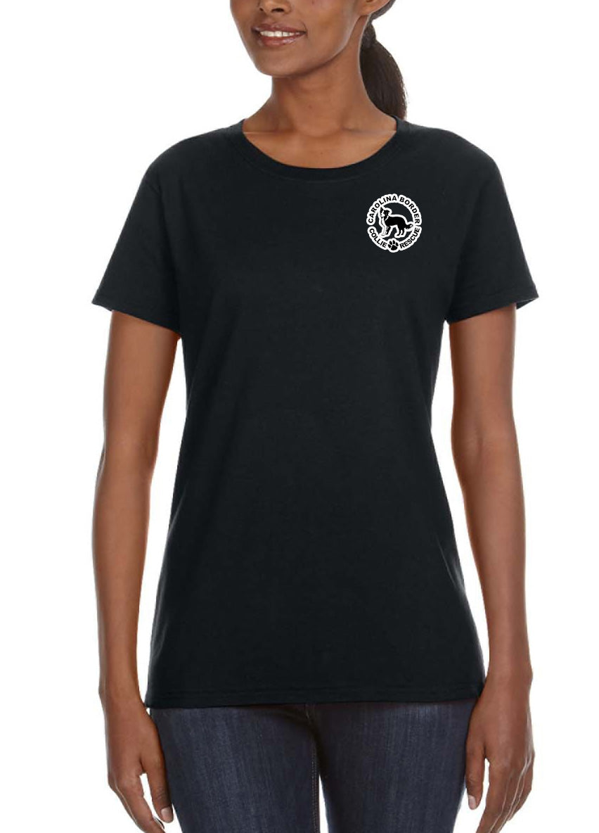 Life's Too Short - Women's Lightweight Crew Neck Tee Black