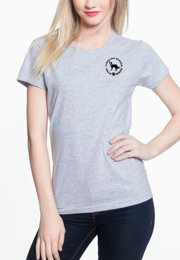 Just Throw It - Women's Lightweight Crew Neck Tee Heather Grey