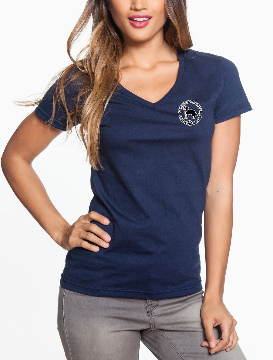 Life's Too Short - Women's Lightweight V-Neck Tee Navy