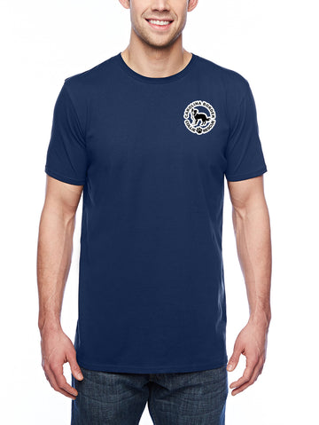 Just throw it Adult Lightweight Tee navy