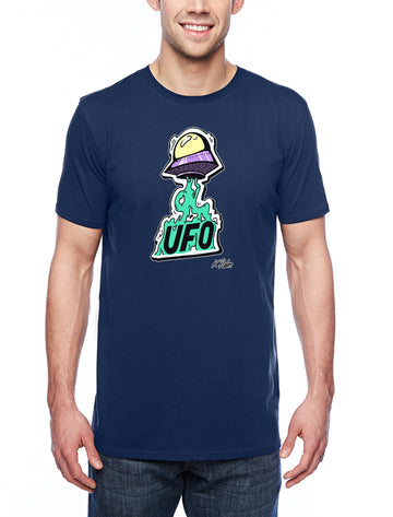 UFO Adult Lightweight Tee Navy
