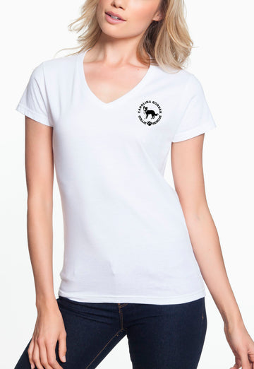 Just Throw It - Women's Lightweight V-Neck Tee White