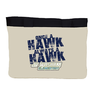Medium Zippered tote Always a Hawk