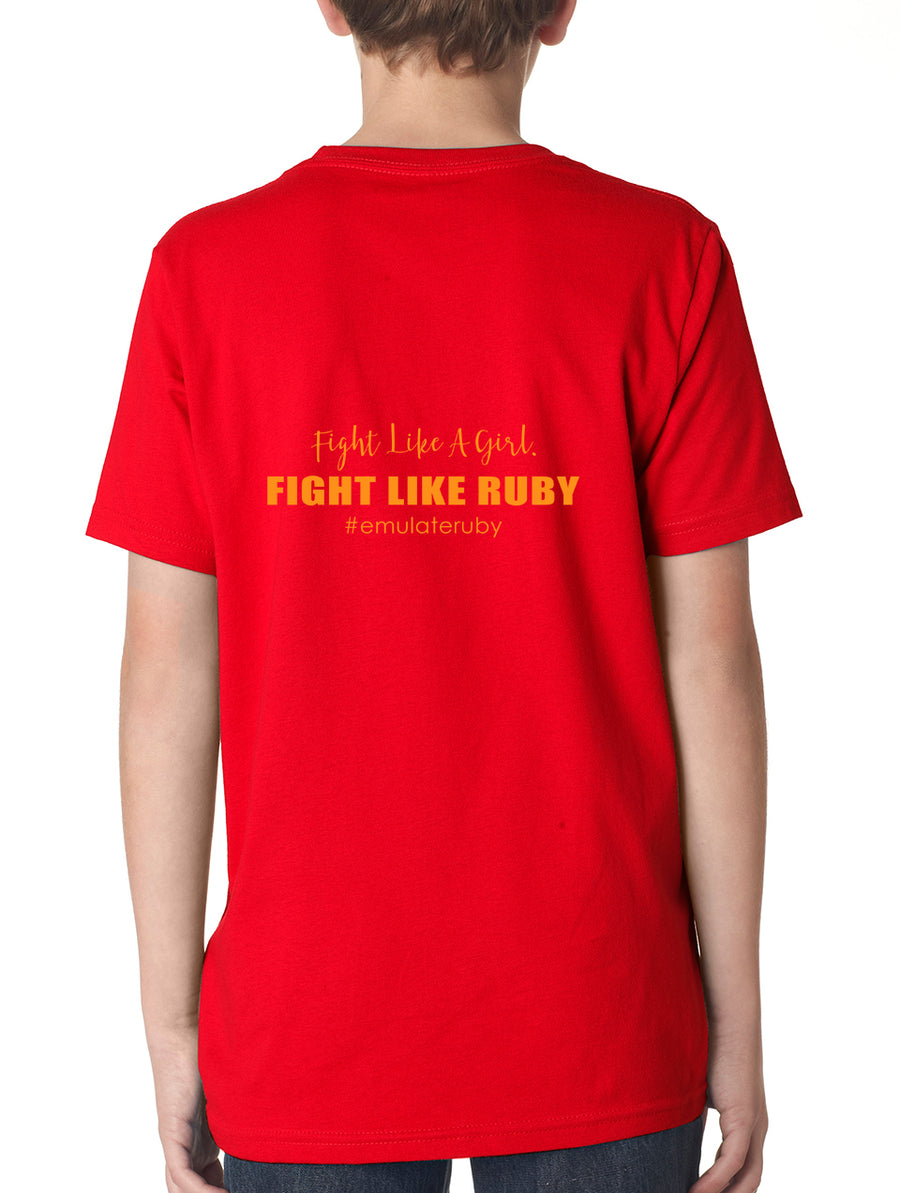 Team Ruby Youth Lightweight Tee Red