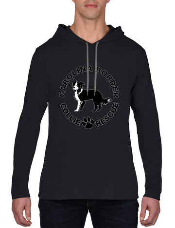 CBCR Logo Long sleeve hooded T-shirt black