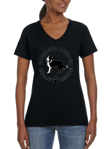 CBCR Logo - Women's Lightweight V-Neck Tee Black