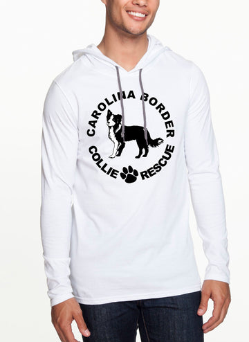 CBCR Logo Long sleeve hooded T-shirt White