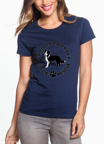 CBCR Logo - Women's Lightweight Crew Neck Tee Navy