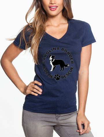 CBCR Logo - Women's Lightweight V-Neck Tee Navy
