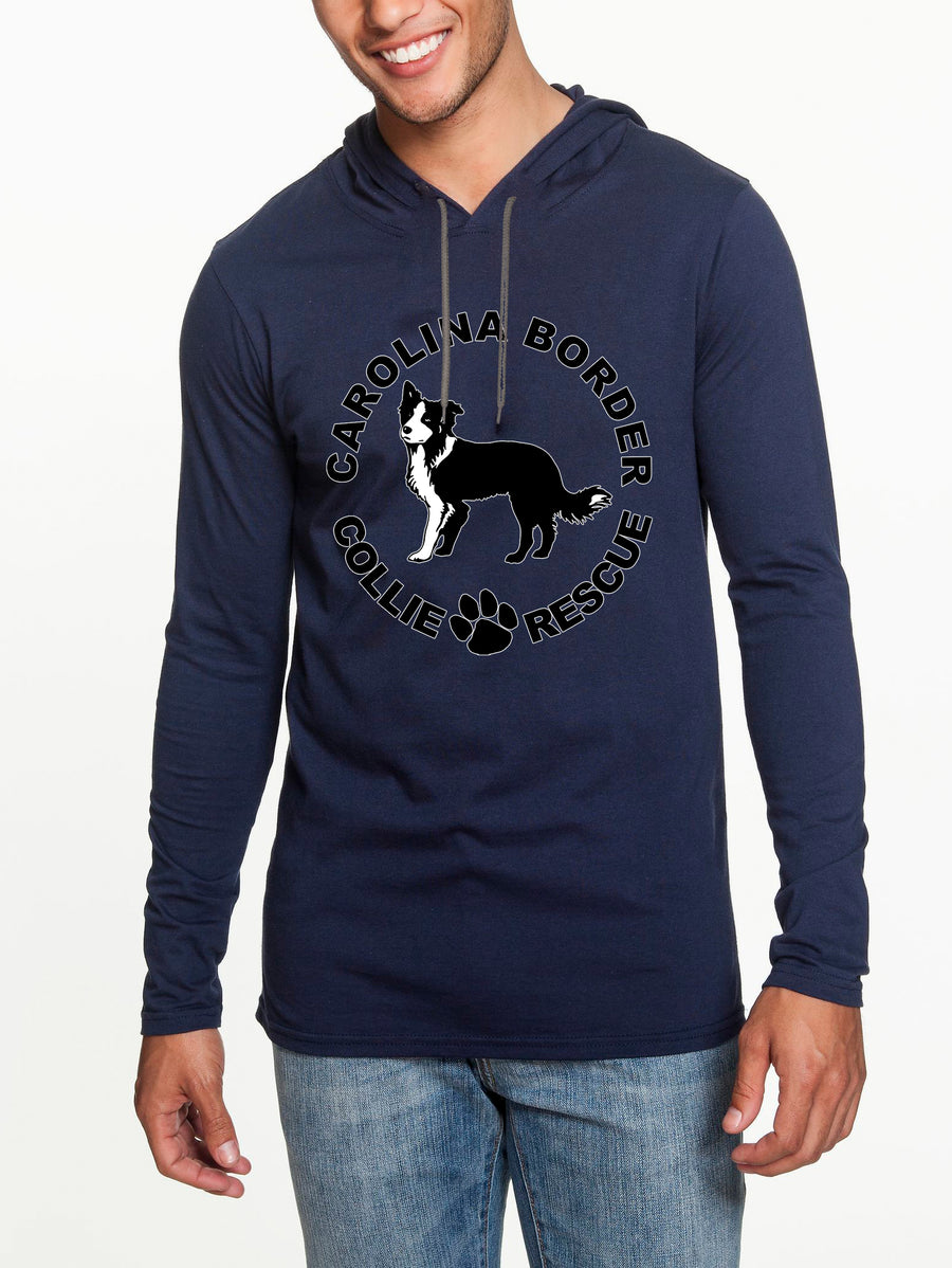 CBCR Logo Long sleeve hooded T-shirt Navy