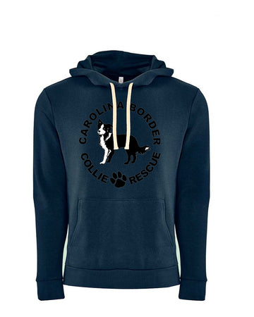 CBCR Logo Front Next Level Fleece Pullover Hoodie Navy