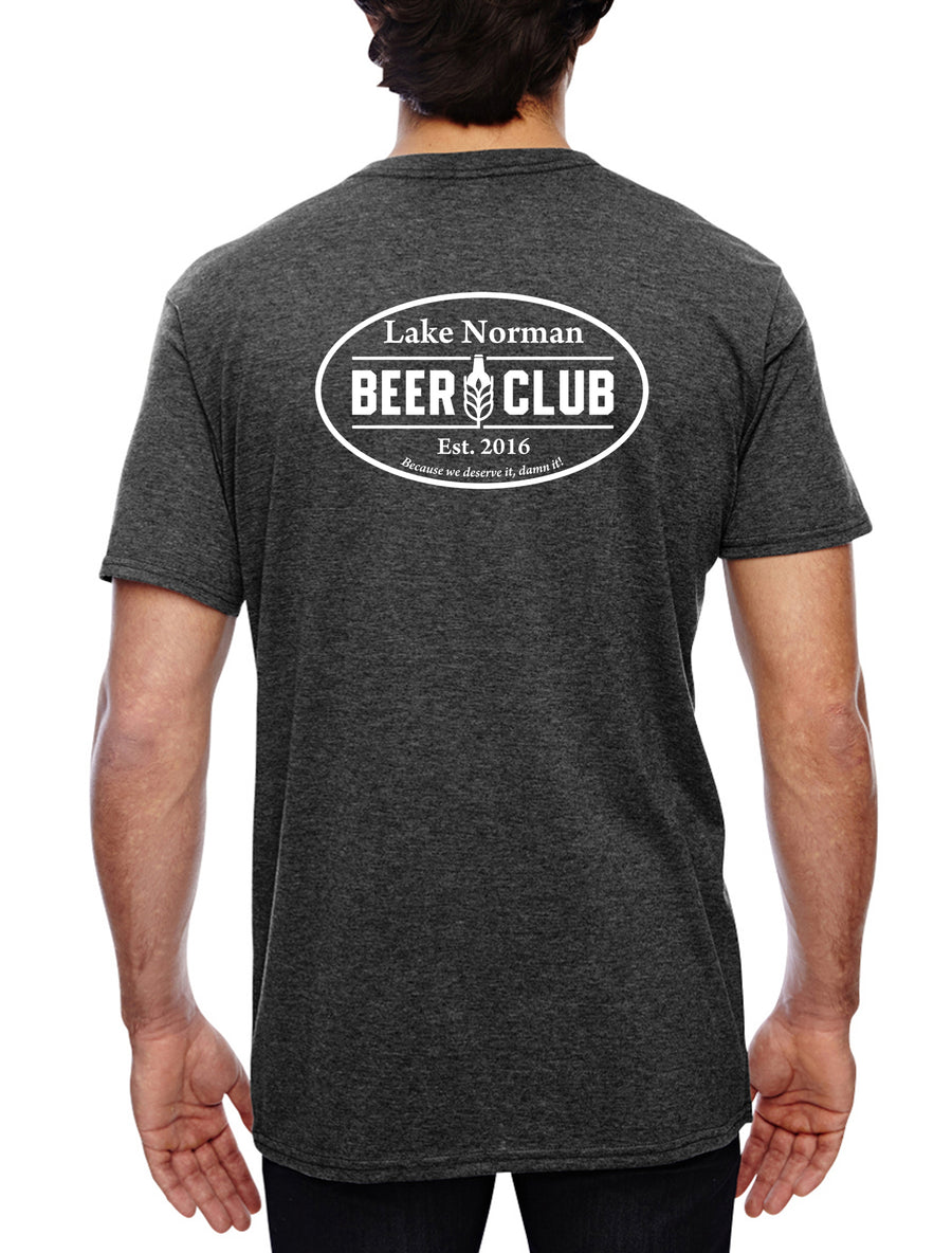 LKN BEER CLUB Stand By Vern Unisex Lightweight Tee Dark Heather Grey