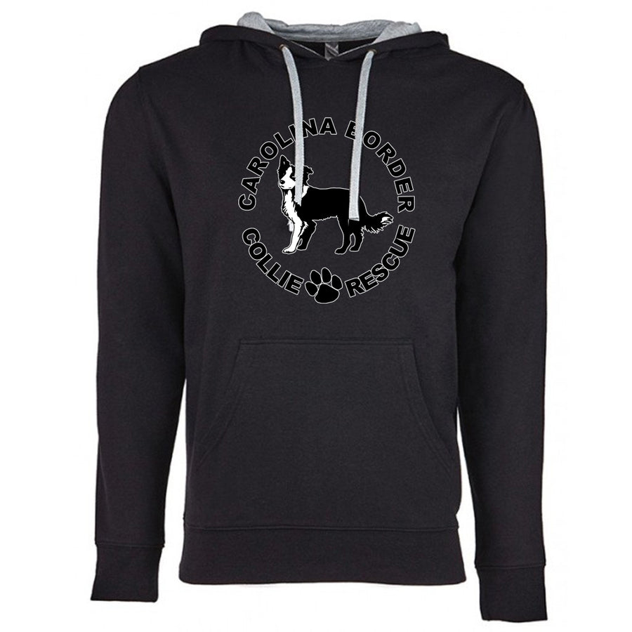 CBCR Logo Next Level French Terry Hoodie Black and grey