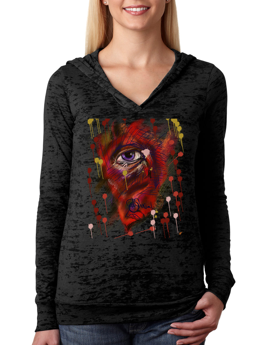 Eye Women's Burnout Hoodie Black