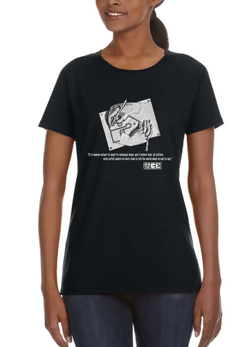 M.C. Escher Women's Lightweight Tee Black