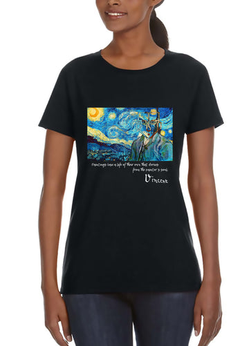 Van Gogh Women's Lightweight Tee Black