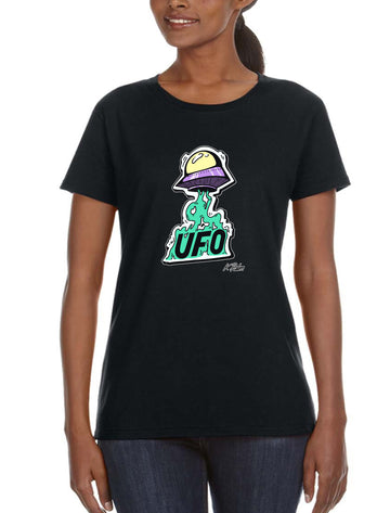 UFO Life Women's Lightweight Tee White Black