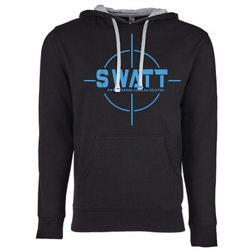SWATT Blue Next Level French Terry Hoodie Black and Grey