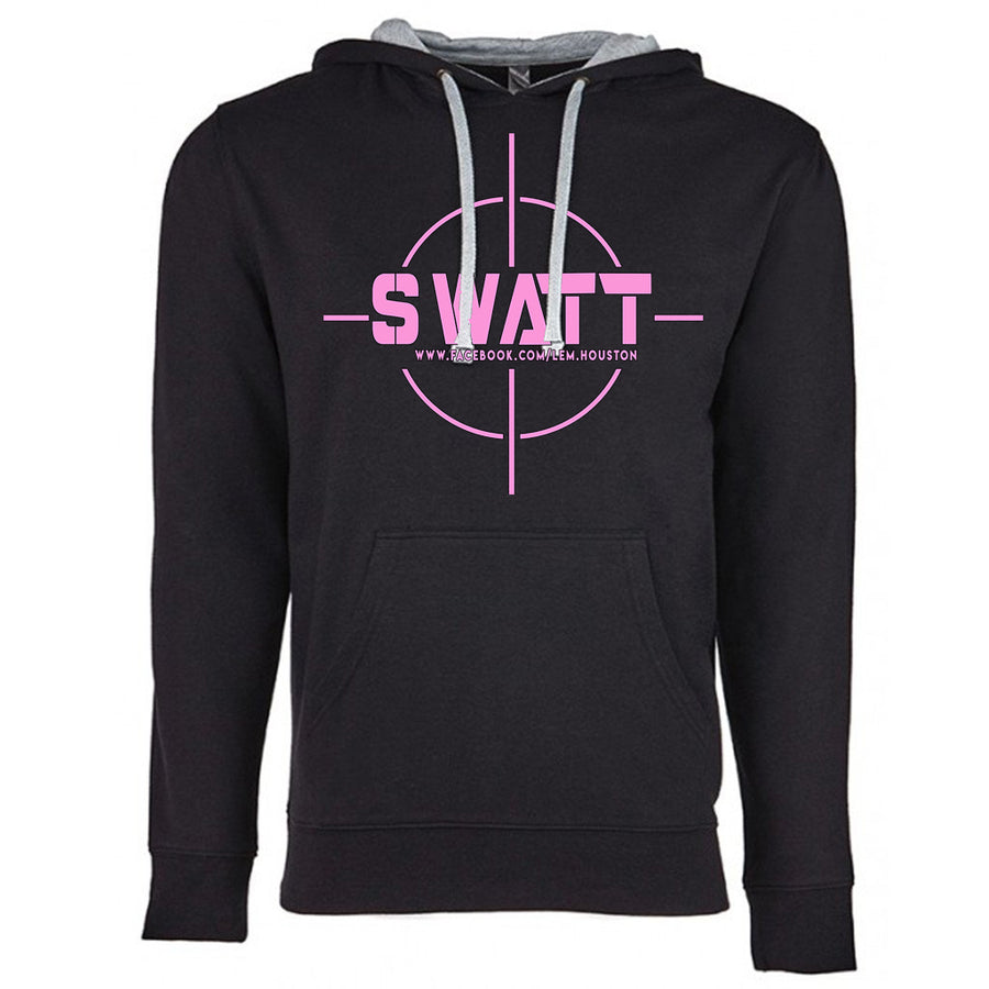SWATT Pink Next Level French Terry Hoodie Black and Grey