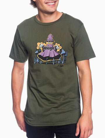 Magic Adult Lightweight Tee Military Green
