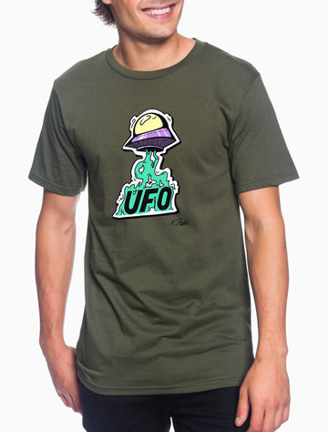 UFO Adult Lightweight Tee Military Green