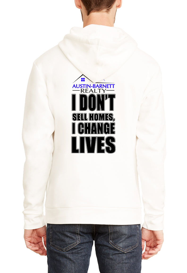 Change Lives Next Level Fleece Pullover Hoodie Natural
