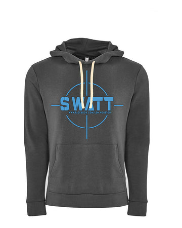 SWATT Blue Next Level Fleece Pullover Hoodie Heavy Metal