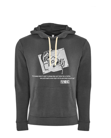 M.C. Escher Tribute Next Level Fleece Pullover Hoodie dark Grey