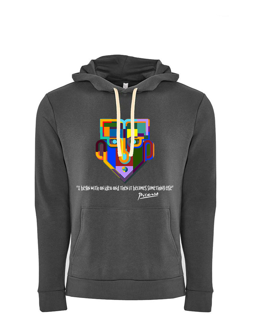 Picasso Tribute Next Level Fleece Pullover Hoodie dark Grey