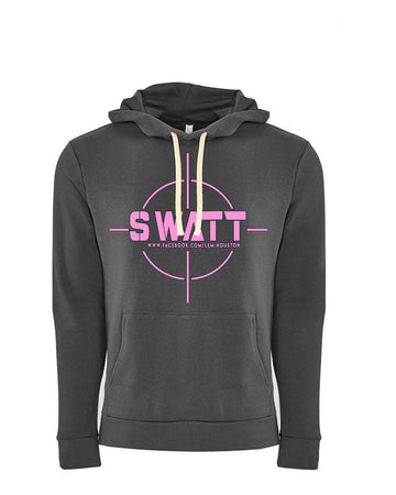 SWATT Pink Next Level Fleece Pullover Hoodie Heavy Metal
