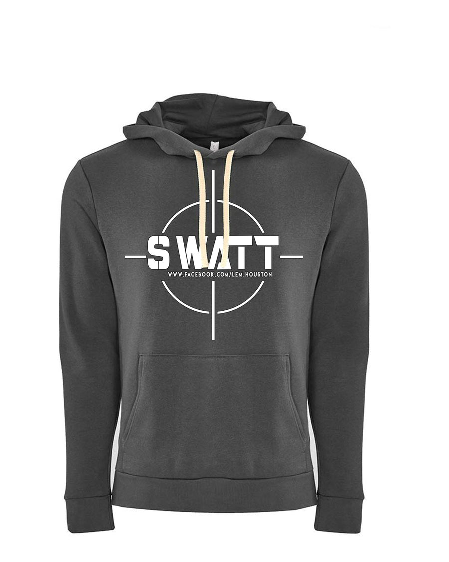 SWATT White Next Level Fleece Pullover Hoodie Heavy Metal