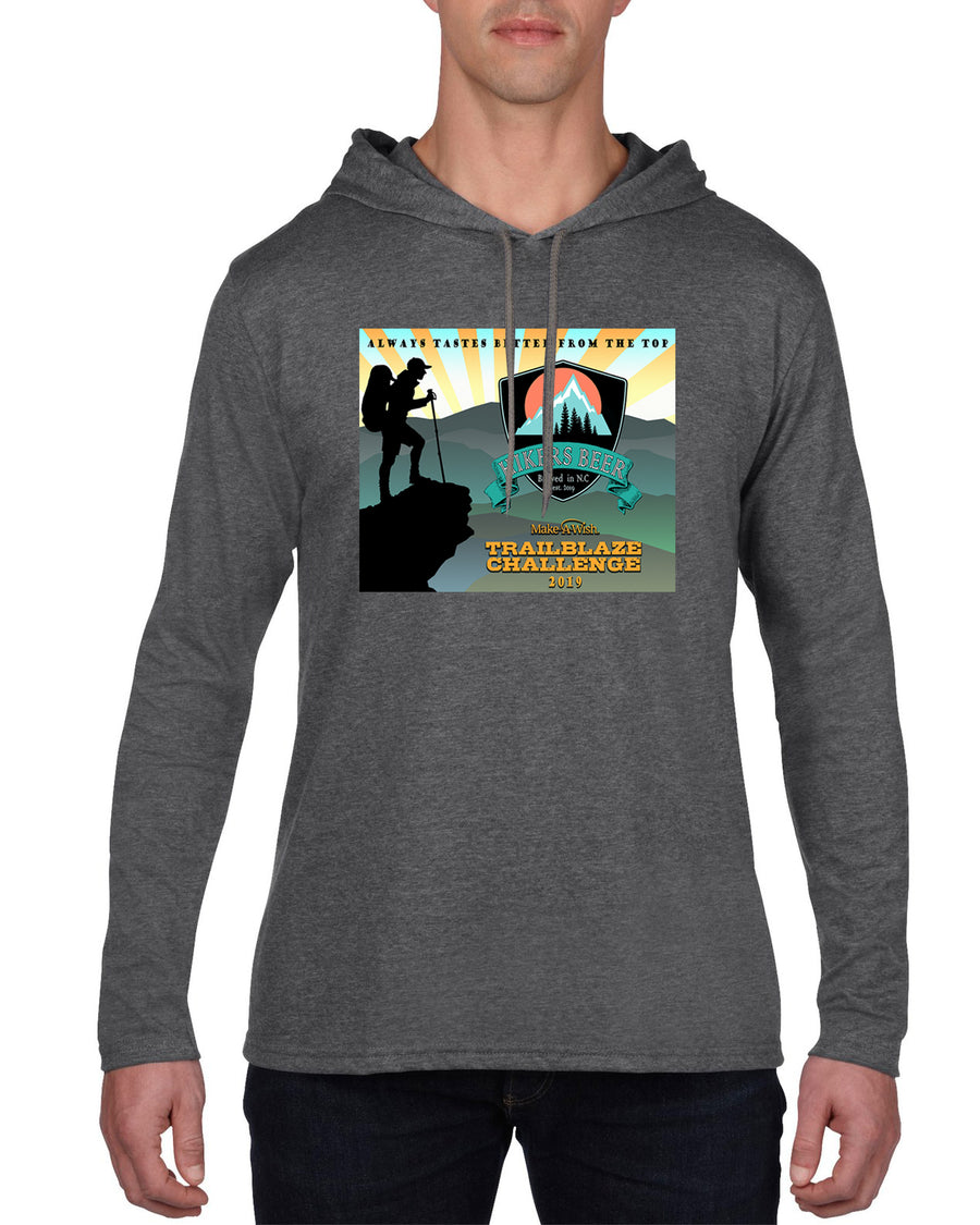 Trailblaze Challenge Long sleeve hooded T-shirt Dark Heather Grey