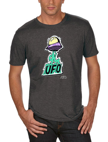 UFO Adult Lightweight Tee Dark/ Heather Grey
