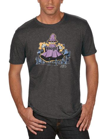 Magic Adult Lightweight Tee Dark/ Heather Grey