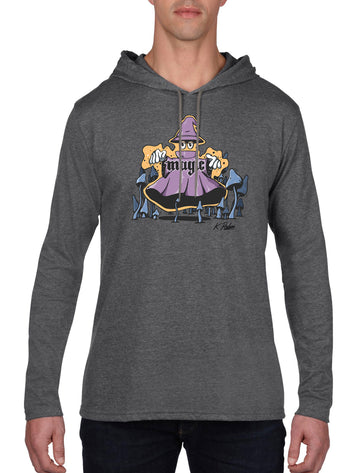 Magic Long Sleeve hooded T-shirt Dark Heather Grey