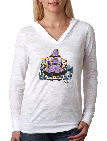 Magic Women's Burnout Hoodie White