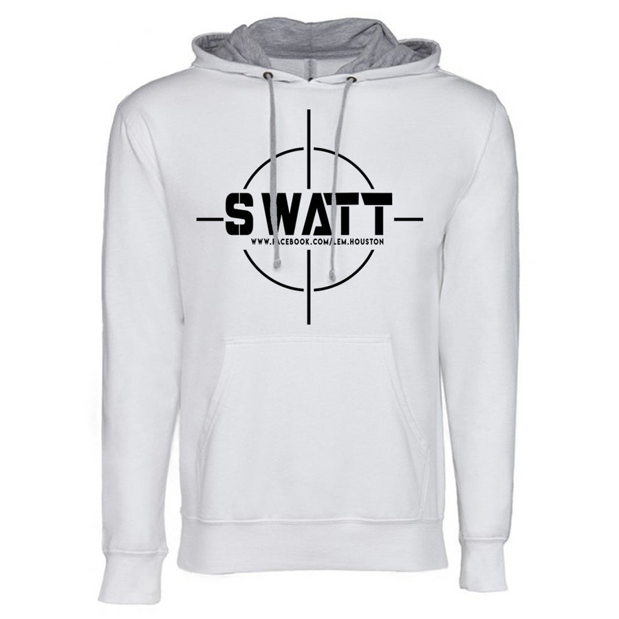 SWATT Black Next Level French Terry Hoodie White and Grey