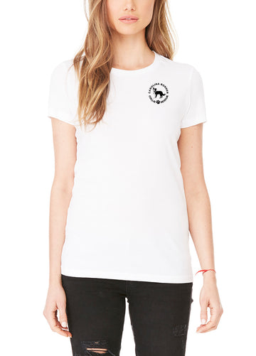 Just Throw It - Women's Lightweight Crew Neck Tee White
